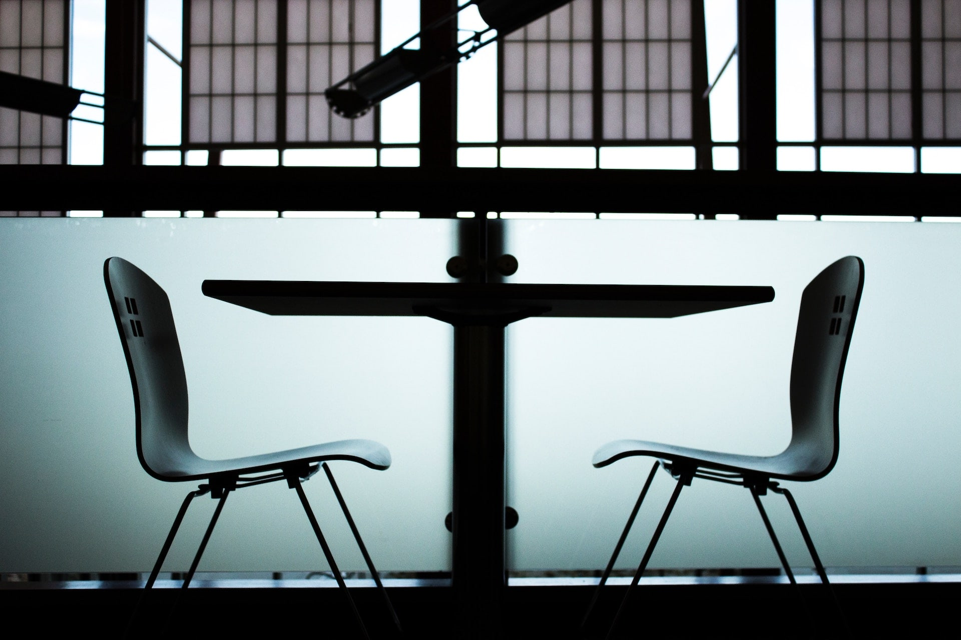 image of two chairs opposite to each other