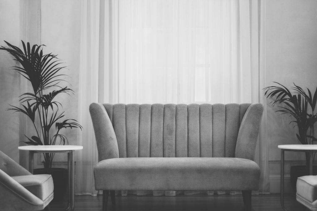 image of grey sofa