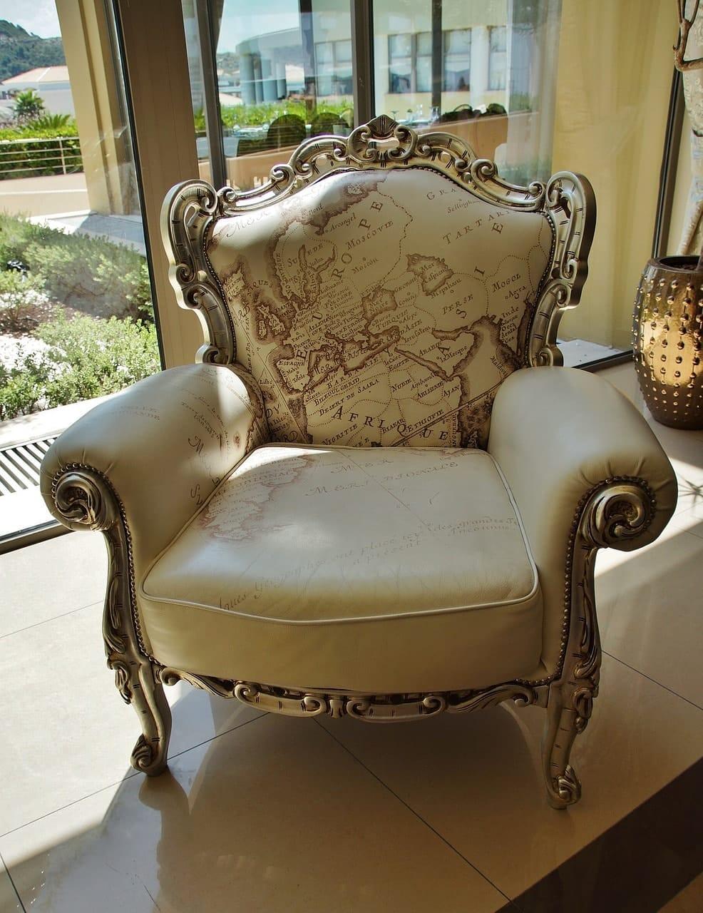 golden cream chair