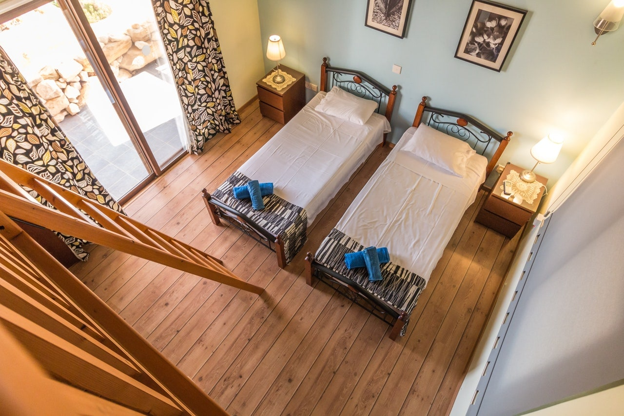 image of two beds in a room