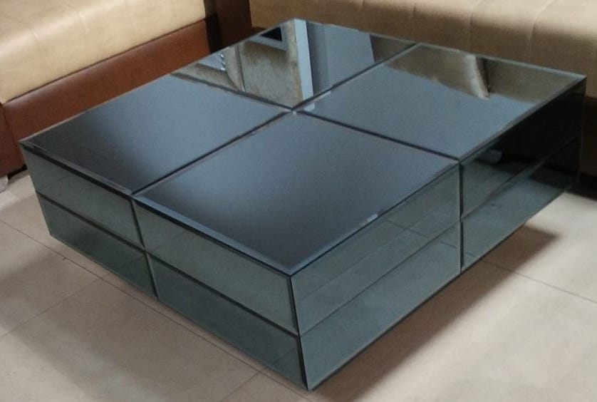 image of centre table black color