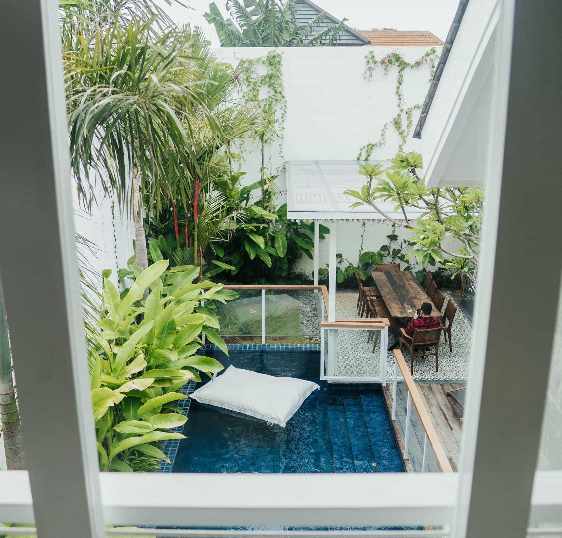 a balcony garden