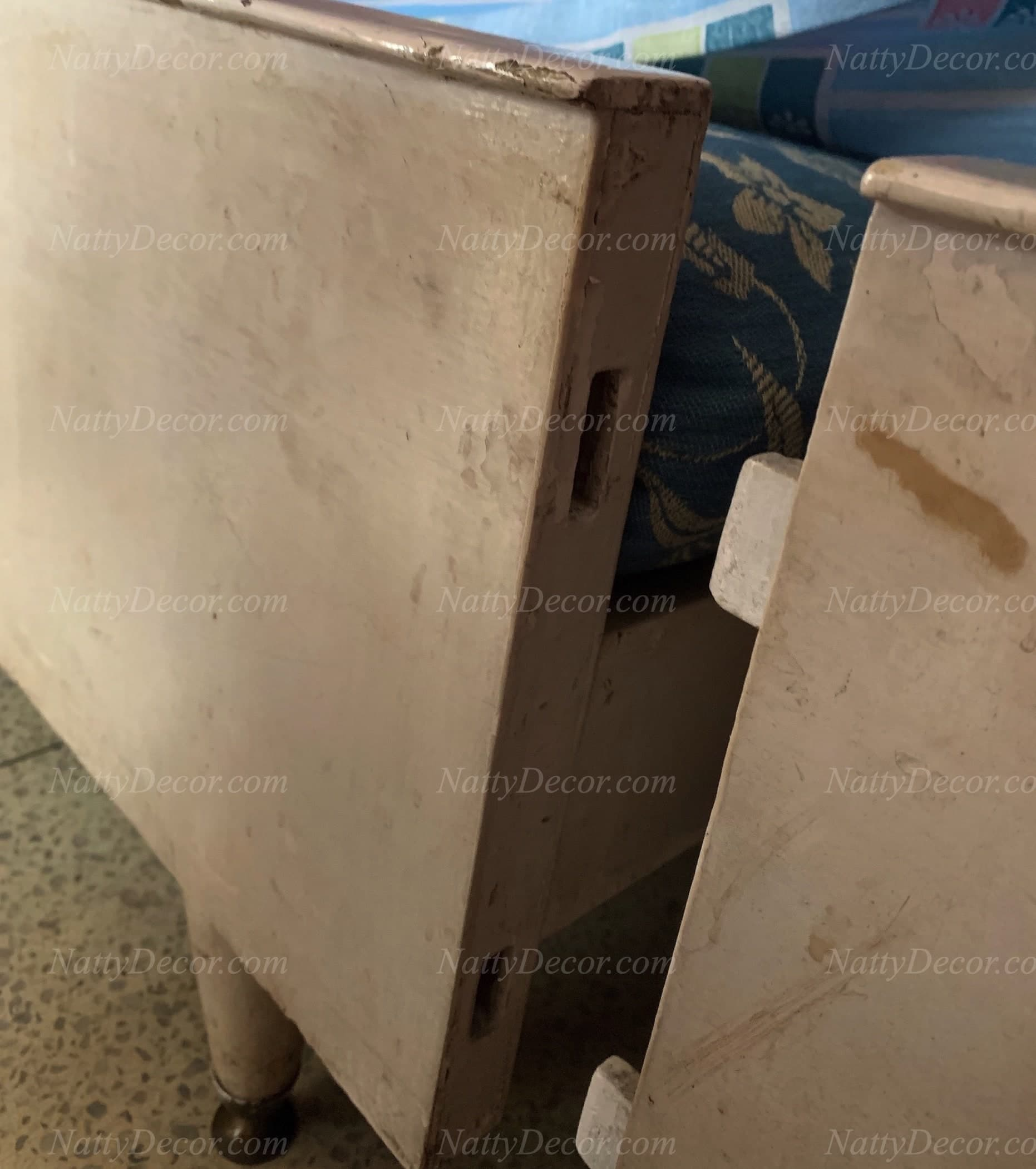 image of an old bed with footboard joints