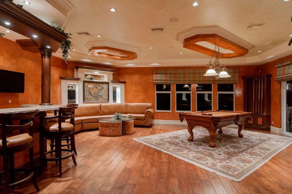 photo of billiard room