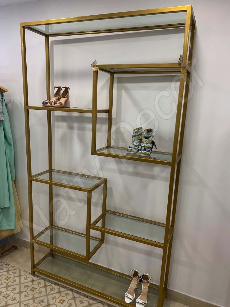 rack for displaying designer concepts in stores